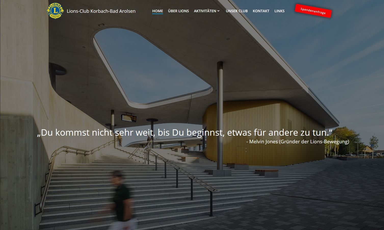 Startseite der neuen Website